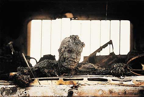 Irakese soldaat op de Highway of Death. Foto van Kenneth Jarecke, 28 februari 1991.