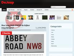 Screencap van DeJaap ongeveer een maand na lancering. Bron: NRCnext.
